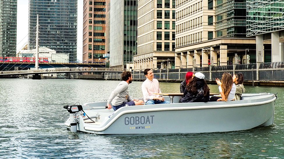 An image showing a GoBoat in Canary Wharf
