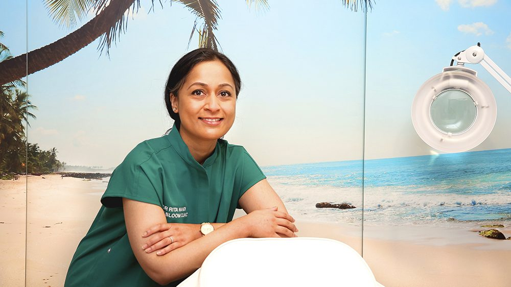 Image shows Dr Rita Nandi in her treatment room