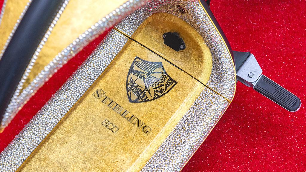 A gilded Electro Ride with Swarovski crystals - image Matt Grayson