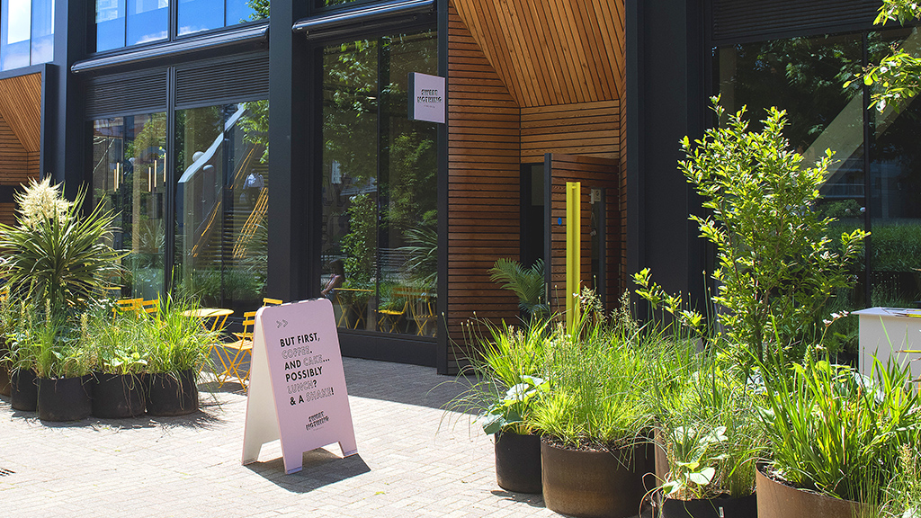 Outdoor space at Sweet Nothing Bakehouse