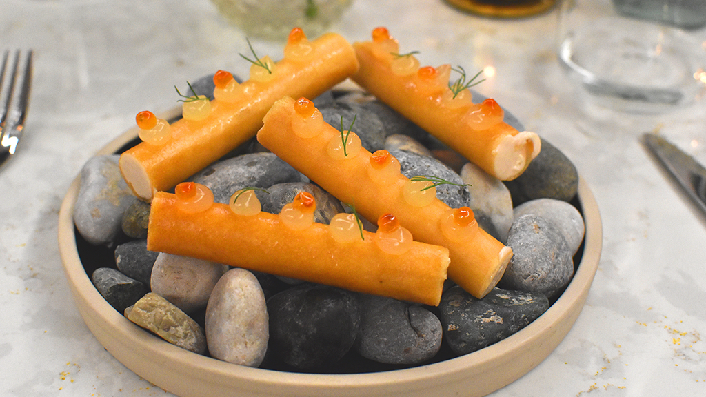 Filo canneloni with taramasalata – part of the extras bundle