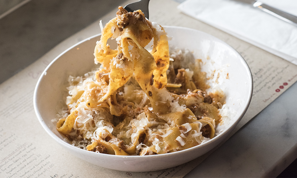 A bowl of pasta at Emilia's