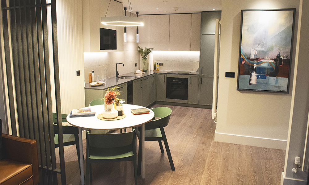 An interior at the Building 10 show home