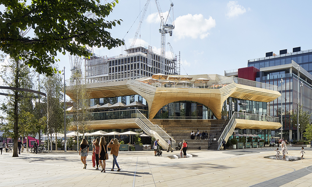 The Pavilion sits in Stratford's Endeavour Square