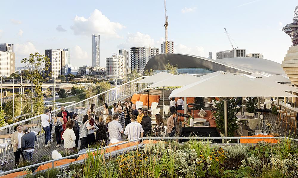 Haugen features a rooftop bar area